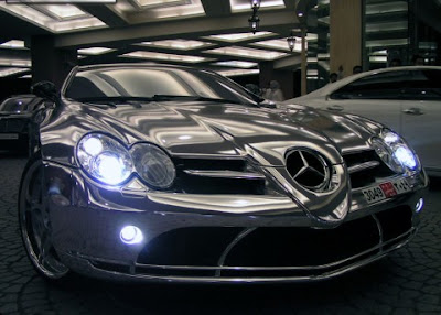 white gold mercedes in dubai
