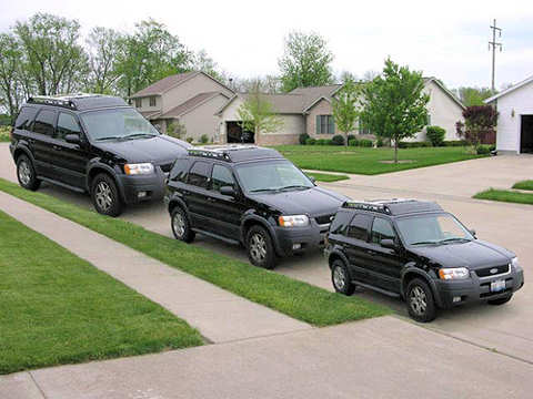 Optical Illusion: all cars are the same size!