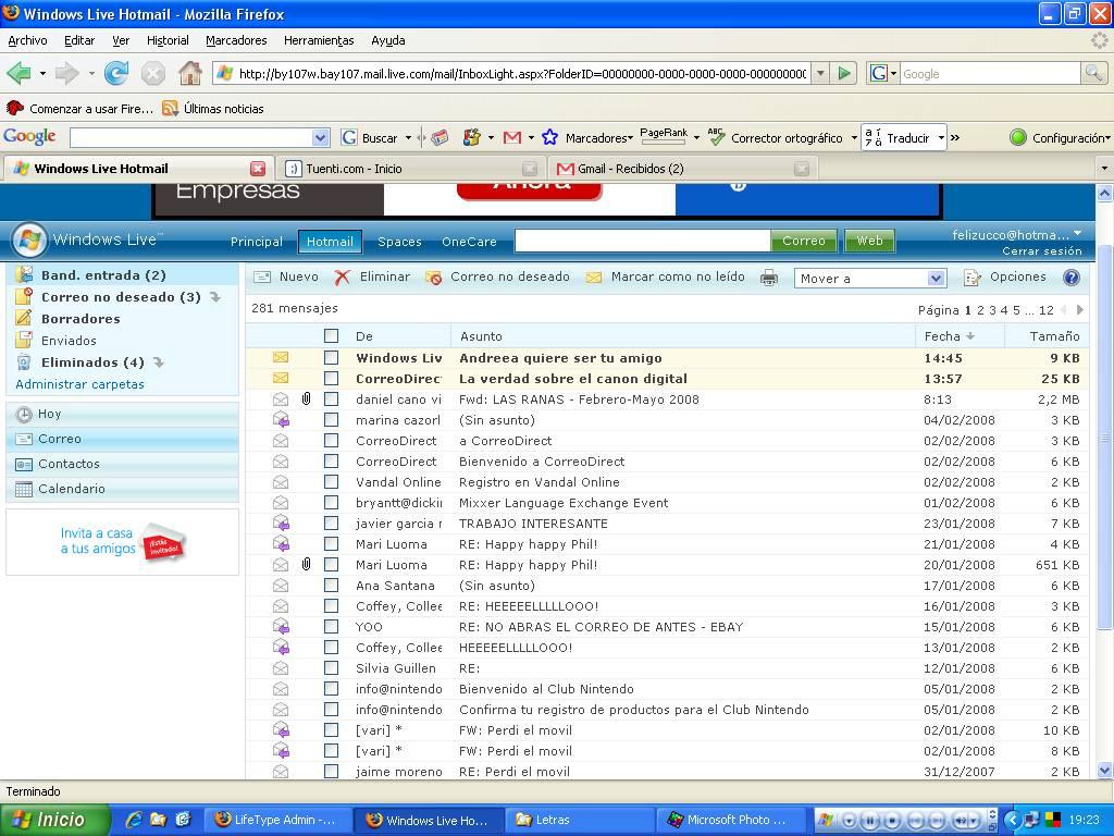 Iniciar Hotmail Sesion