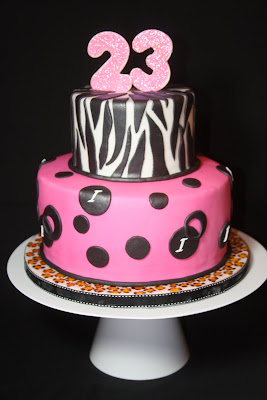 Animal print birthday cake cakes n goodies animal print birthday cake thecheapjerseys Images