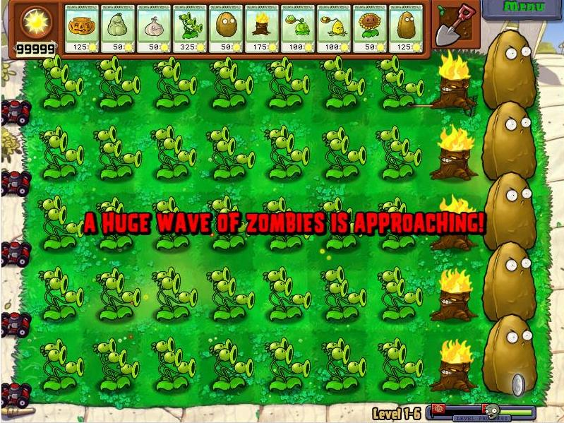Play infinite coins, first shoot zombie death, seed no loading