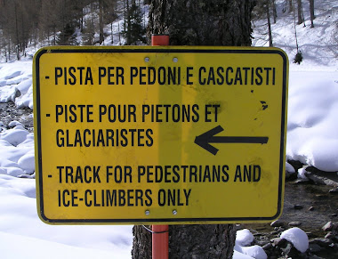 Track for Ice Climbers Only! Cogne Italy