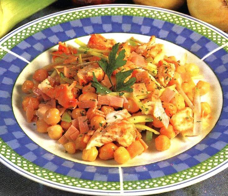 Recetas ensalada de garbanzos recetas de cocina diarias - Ensalada de garbanzos light ...