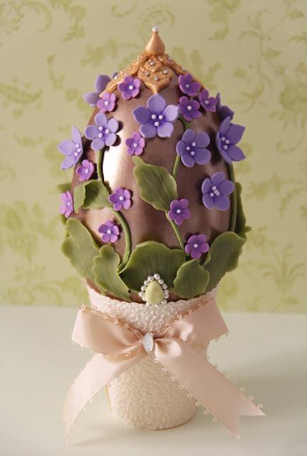huevos de pascua de chocolate haute couture