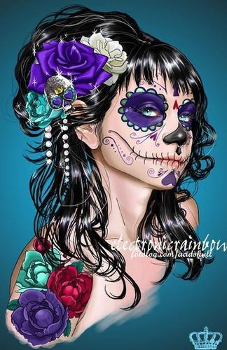"""... Lectura y Redacción: Maquillaje de """" La Catrina """" ( Día de Muertos"""