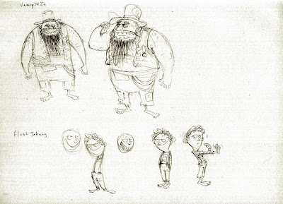 Character Designs for the Dragon Blood Pirates