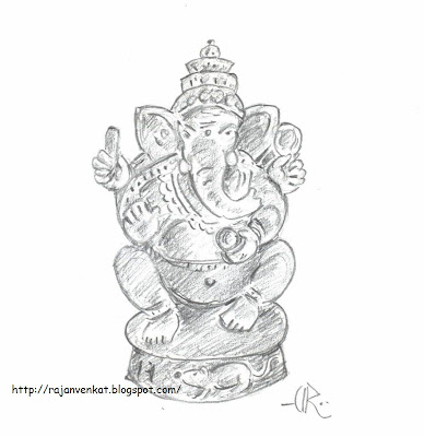 ... , Ganesh Chaturthi/ Pillayar Chatthurthi..(My Pencil Drawings