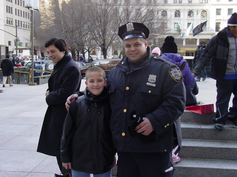 Tanner with NYPD officer