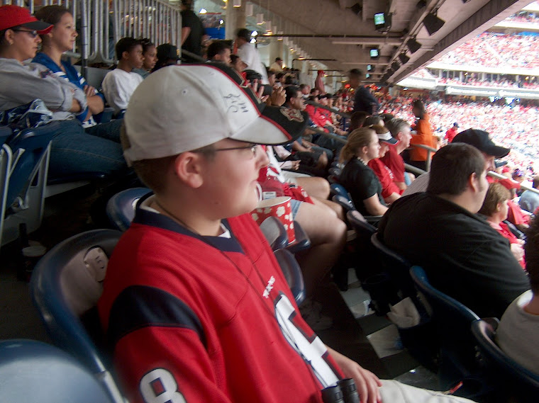 Tanner's first Houston Texans game.