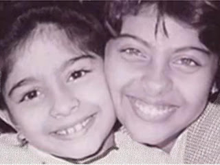 kajol with sister tanisha : kajold.blogspot.com Indian top stars childhood teen age and marriage photos