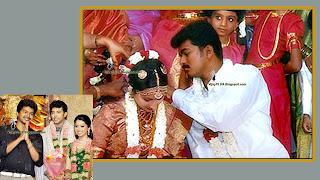 Tamil Actor Vijay weds Sangeetha. Thaali kattum kaatchi
