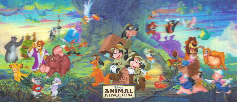Disney's Animal Kingdom 3-D Postcard, signed by Harry Moore!