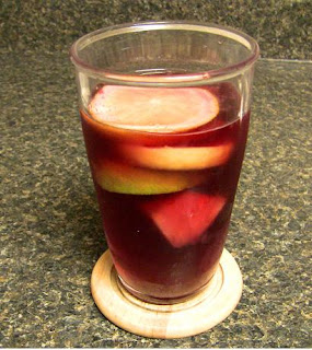 Cooking with glitter playing hard and pineapple sangria - Plastic sangria glasses ...