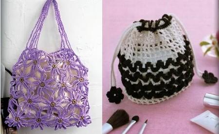 El taller de a m y m a bolsos muchas ideas - Como hacer bolsos tejidos ...