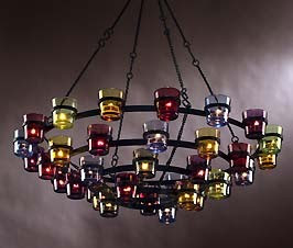 Perfect Chandelier Crystal. Votive Candle Outdoor Chandelier Lovely Lighting ...