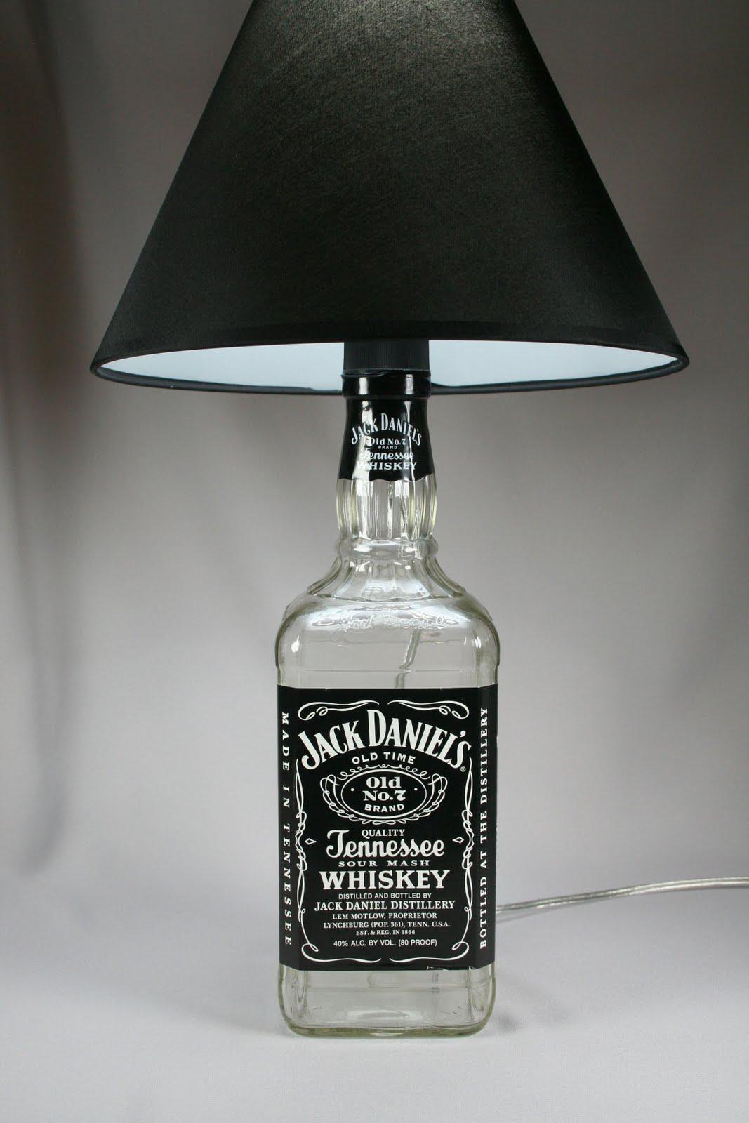 Shifflett studios funky new bottle lamps for Lamps made out of wine bottles