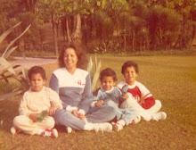 eu e meus 3 filhos