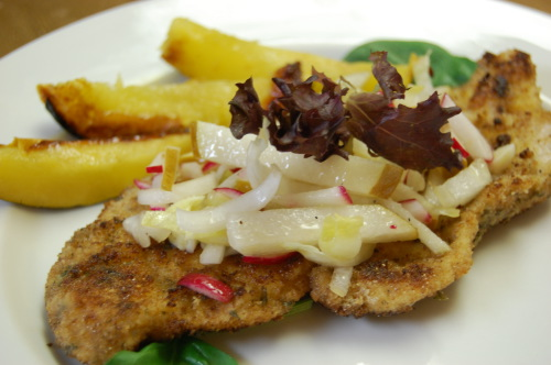 Chicken Schnitzel with Endive & Bosc Pear | funny stories and fun with ...