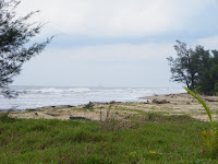 Meragang Beach or Crocodile beach in Muara.