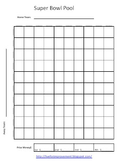 Clark University Academic Calendar >> 2015 Super Bowl 50 Squares Pool Template | New Calendar Template Site
