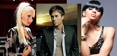 Sarah Connor, Enrique Iglesias and Ciara