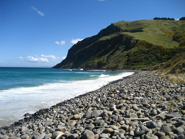 world travel: New Zealand Beach