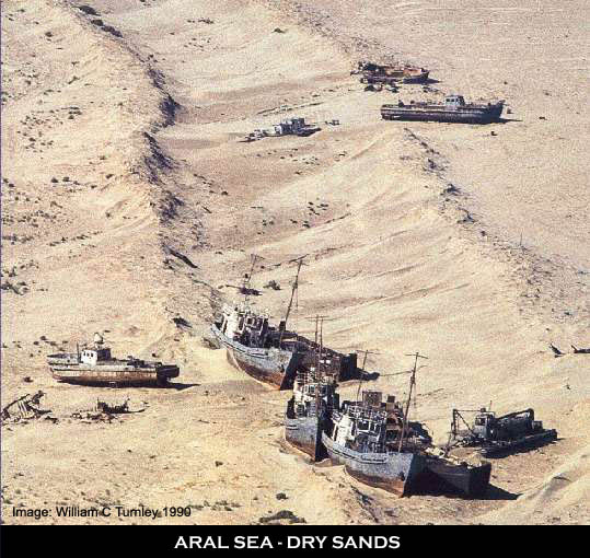 Green Dreams: THE ARAL SEA- in its death bed.