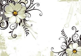 Flori stilizate albe