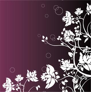 Decor floral violet
