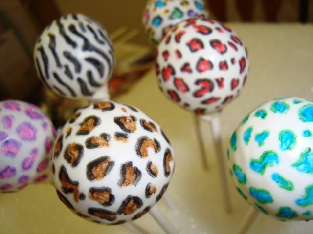 leopard print cake pop