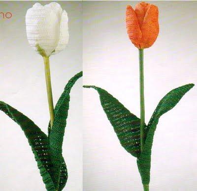 Предлагаю связать крючком по схемам разные красивые цветы? в том числе тюльпаны. розы.