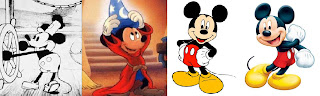 Evolucion Mickey Mouse