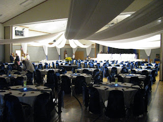 Memorable Moments Decor Rentals: Black White & Royal Blue Wedding