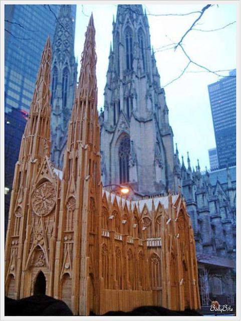 Toothpick+Art+%2815%29 Bangunan Yang Diperbuat Daripada Pencungkil Gigi