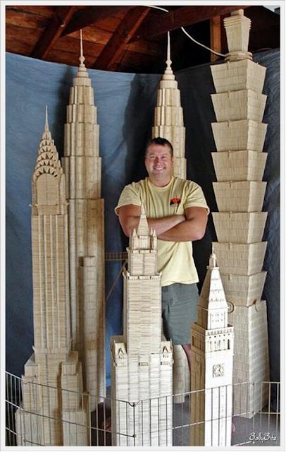 Toothpick+Art+%2814%29 Bangunan Yang Diperbuat Daripada Pencungkil Gigi