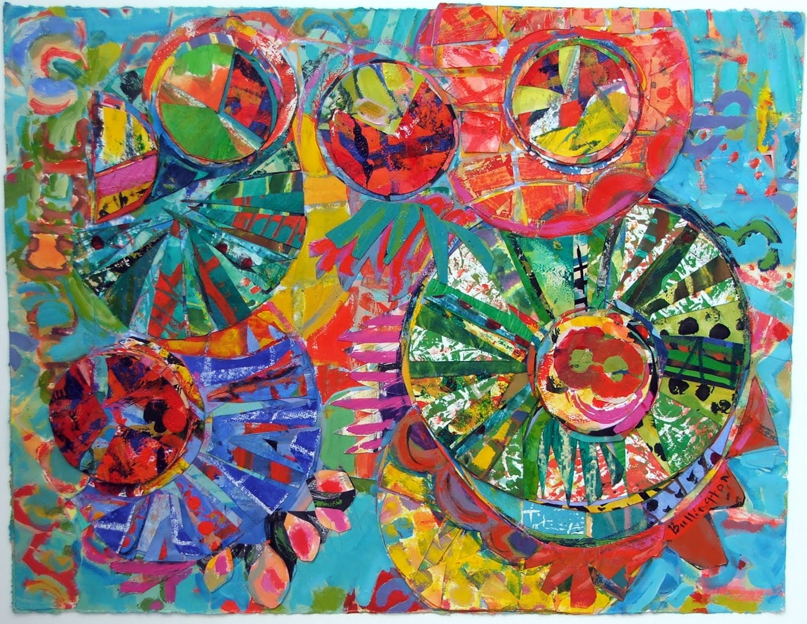 Paper collages painting inspiration color art ideas for Color collage ideas