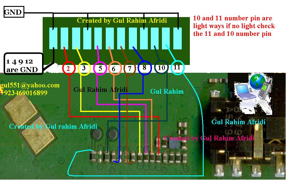 New 1202  1203 Lcd Display Connector Circuit Ways