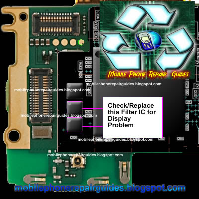 nokia x3-02 display filter IC jumper ways