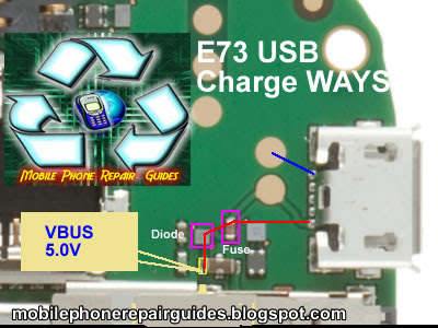 nokia e73 USB charge jumper ways tracks