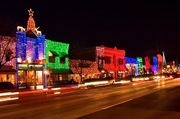 Christmas Lights in Downtown Rochester, Michigan © Cornelia Schaible