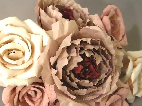 Paper Bouquets using Curious Metallic Cardstocks and Paper