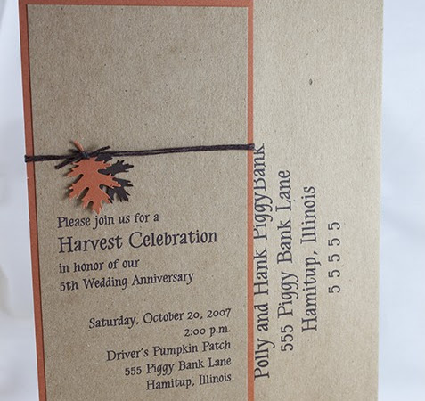 Brown Bag HARVEST INVITATION + Tutorial