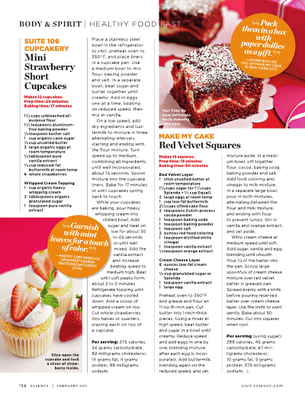 Suite 106 cupcakery january 2011 for Essence magazine recipes