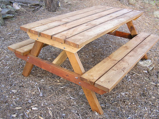 building plans wooden picnic table