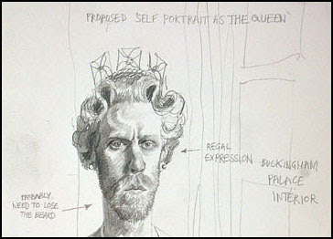 Self Portrait as the Queen - Stuart Pearson