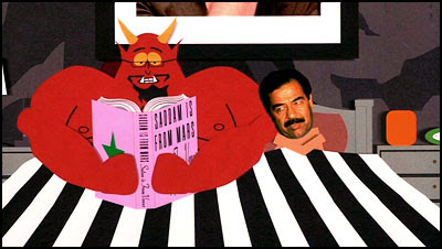 Satanás + Saddam - South Park: Bigger, Longer & Uncut, Trey Parker + Matt Stone