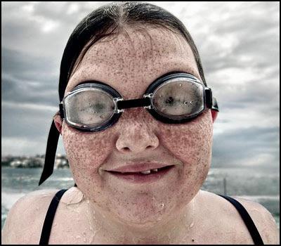 Iceberg 'goggle girl' - Matt Hoyle