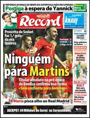 Record: Ninguém pára Martins