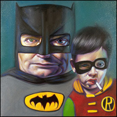 Ron English - Batman and Robin