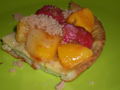 Recipes of a cheapskate puff pancake monday mix up top with some fruit and some brown sugar and youre good to go the brown sugar mixes with the fruit juices making a nice syrup so you dont need to use ccuart Image collections